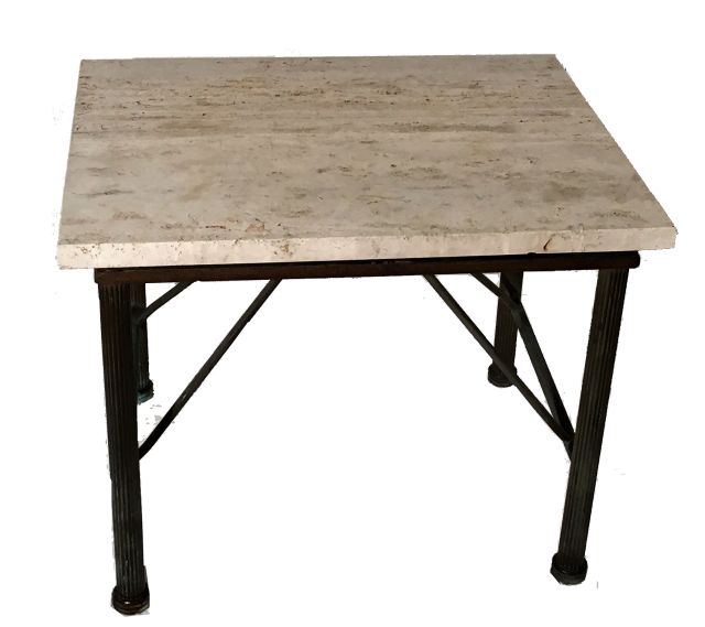 Travertine Side Table Indoor Outdoor